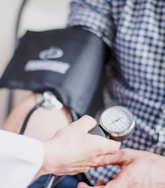 Blutdruckmessgerät Arzt Landingpage