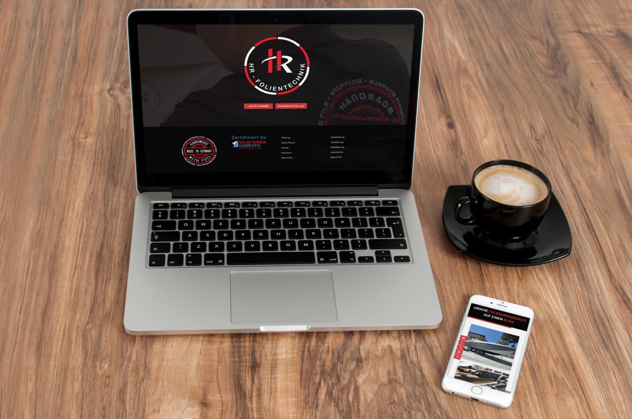 HR-Folientechnik Logo Notebook